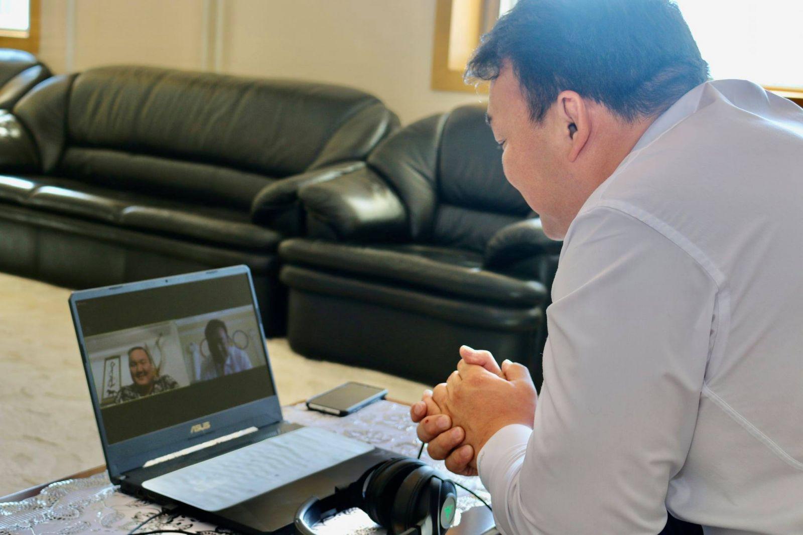 МҮОХ-ны Ерөнхийлөгч Н.Түвшинбаяр, Монголын олимпийн багийн элч Хакүхо нар цахимаар ярилцав