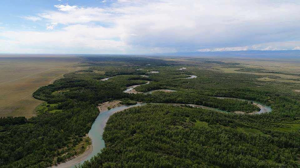 Тэсийн гол Монголоос гараад ОХУ-аас эргээд Монгол руу орж ирж байгаа хэсэг