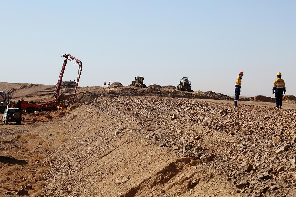 HQ7A8075 Ерөнхийлөгч Х.Баттулга Тавантолгой-Зүүнбаян чиглэлийн 414 км төмөр замын барилгын ажилтай танилцлаа